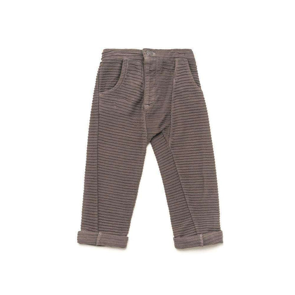 OMAMIMINI:Kids Textured Relaxed Terry Pants | Pewter OM214