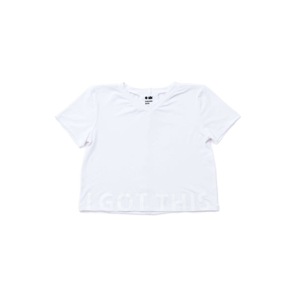 "OMAMIMINI:Kids V-Neck Tee with Print ""I GOT THIS"" 