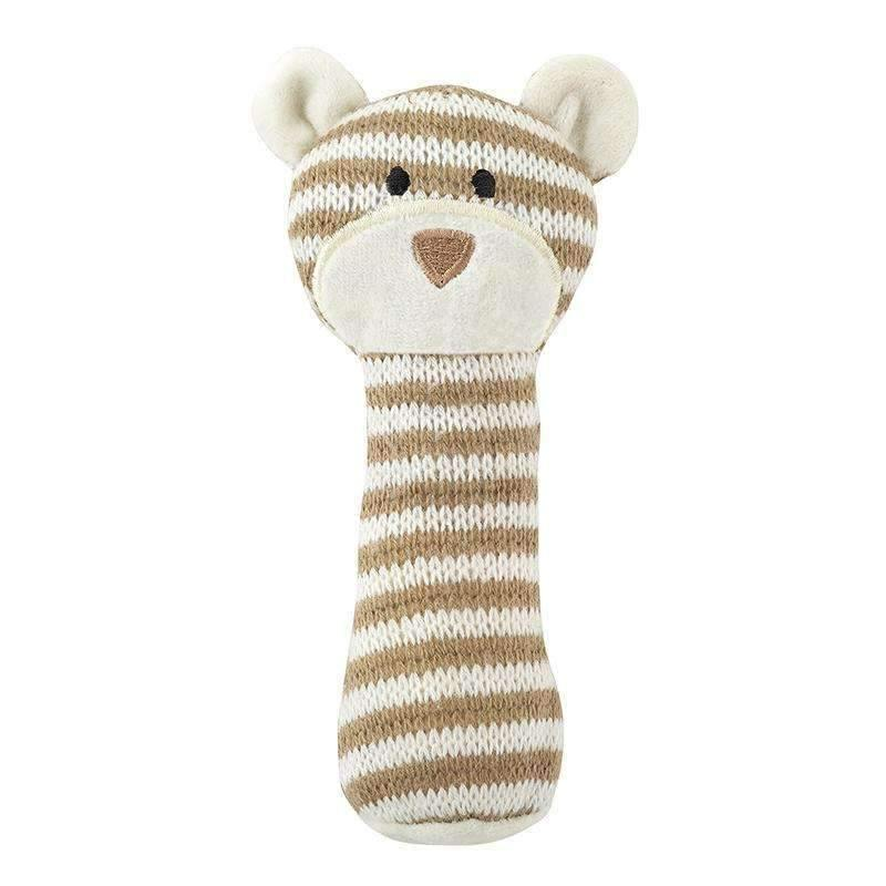 OMAMIMINI:Knit Rattle | Brown Bear