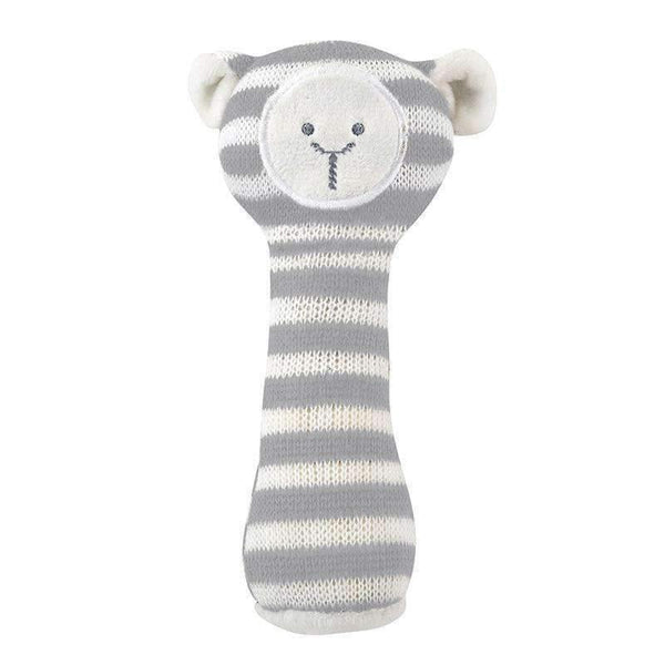 OMAMIMINI:Knit Rattle | Gray Lamb