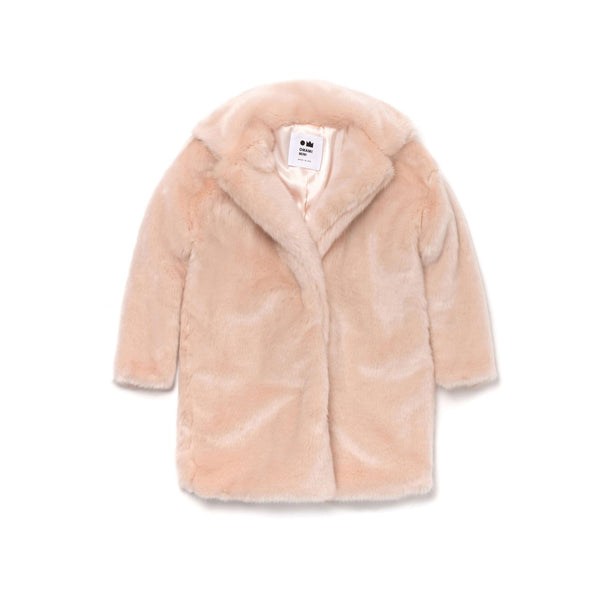 Kids Fur Coat | Pale Pink | OM387