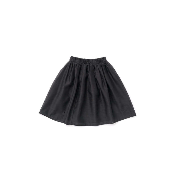 OMAMIMINI:Layered Voile Midi Skirt | Black OM303