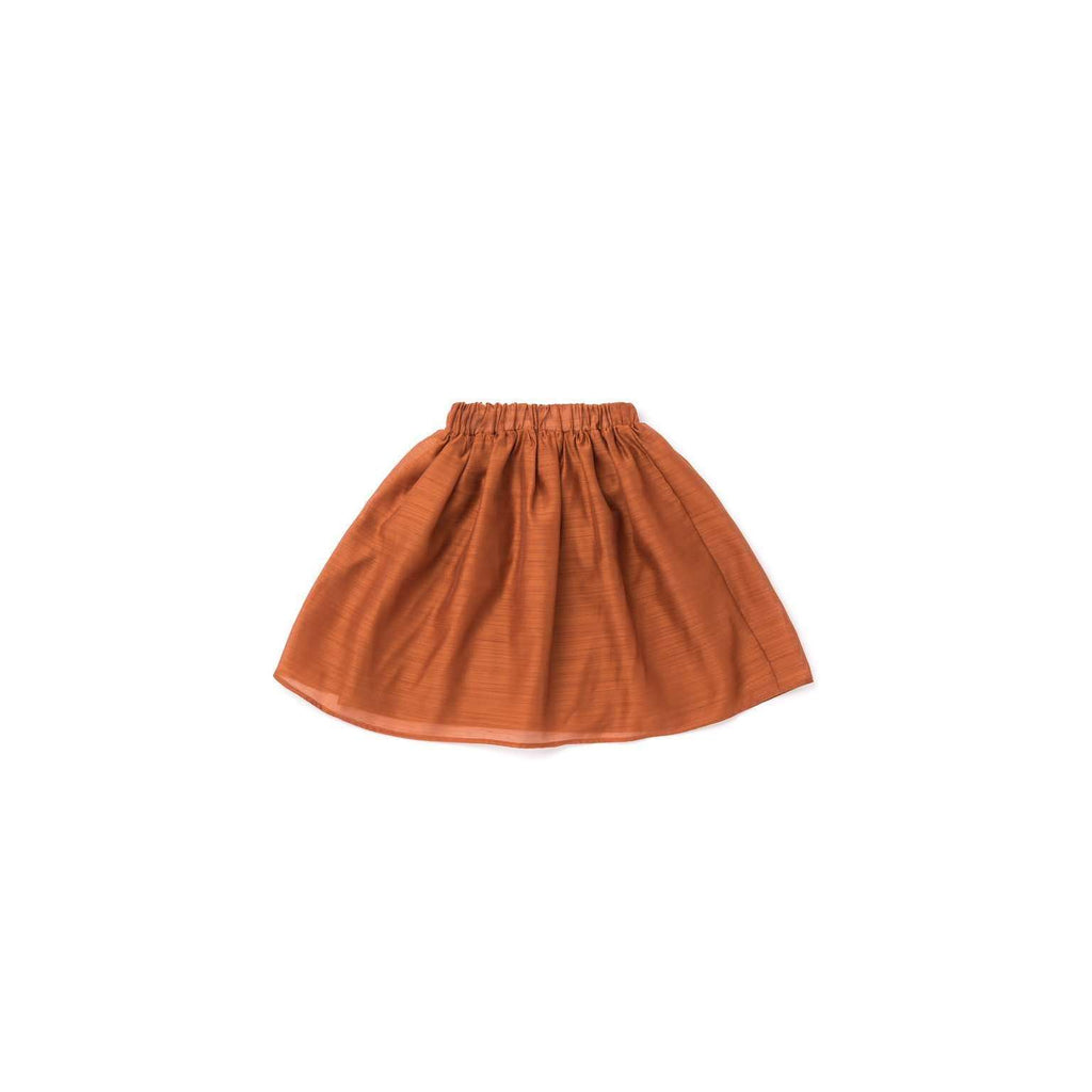 OMAMIMINI:Layered Voile Midi Skirt | Rust OM303