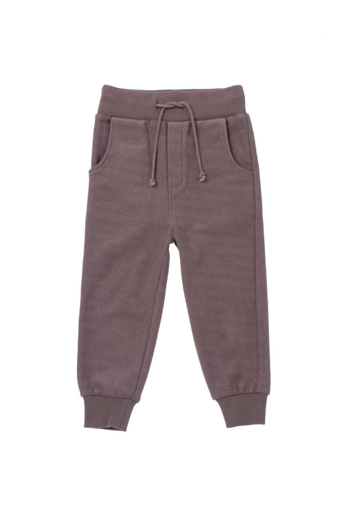 Kids' Textured Terry Sweatpants - Stone | OM430