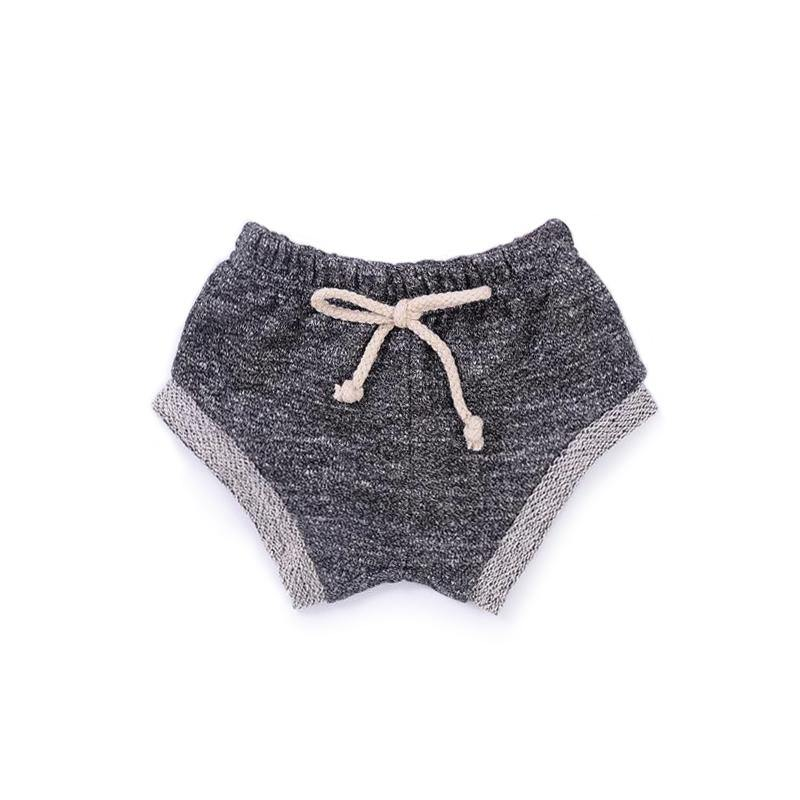 Baby Terry Shorts | Heather Charcoal - OMAMImini