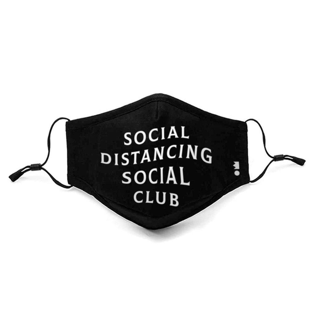 'Social Distancing Social Club' Protective Mask | Kids & Adults