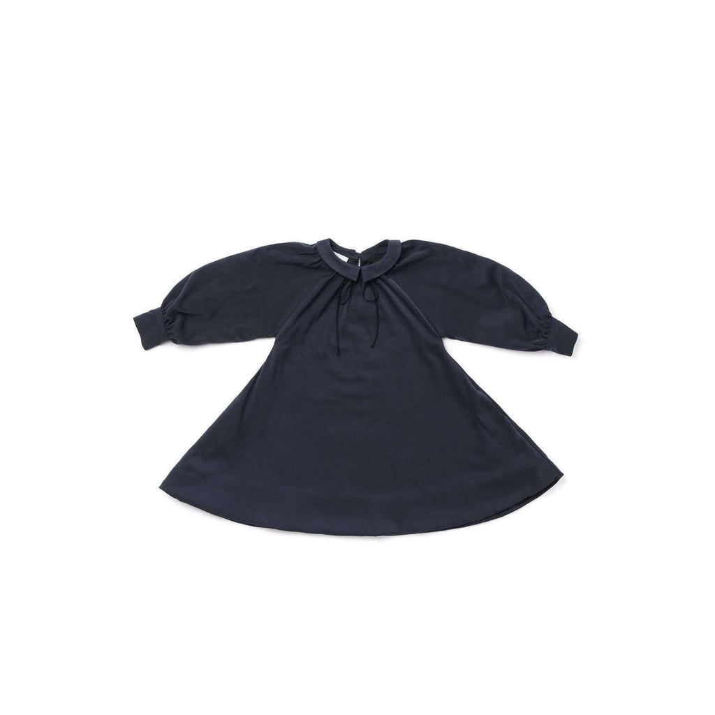 OMAMIMINI:Peter Pan Collar Tent Dress | OM295 Navy