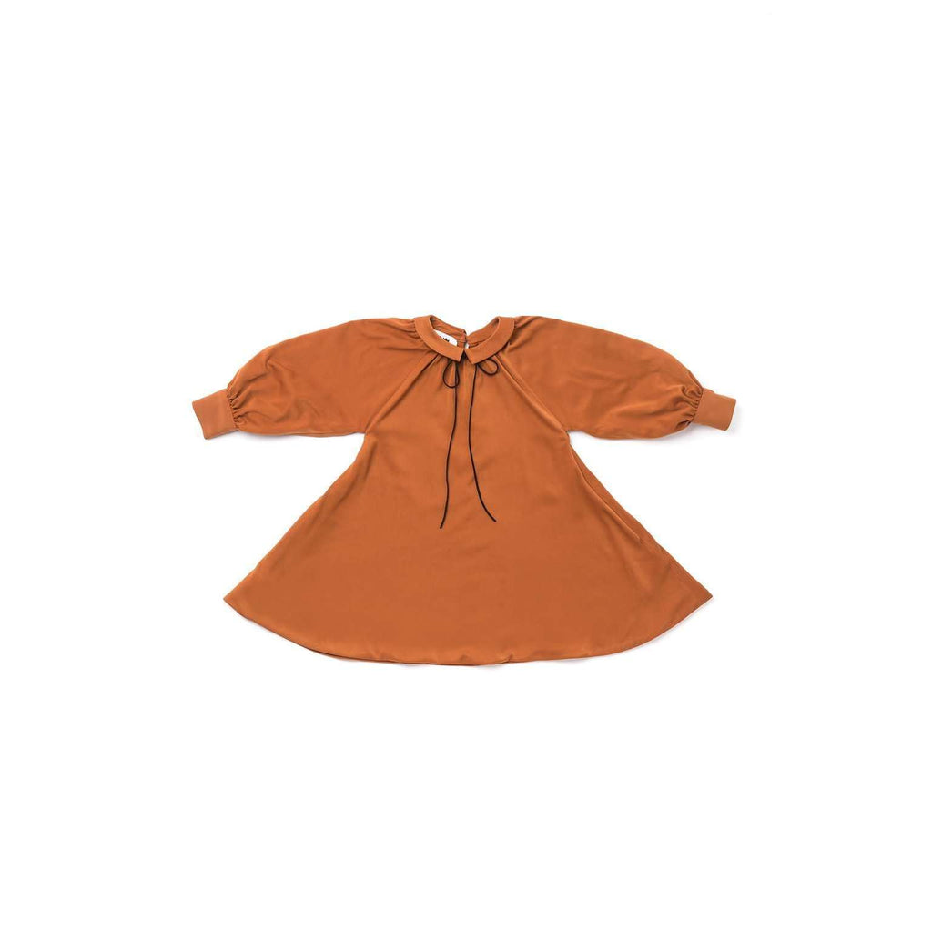 OMAMIMINI:Peter Pan Collar Tent Dress | OM295 Rust