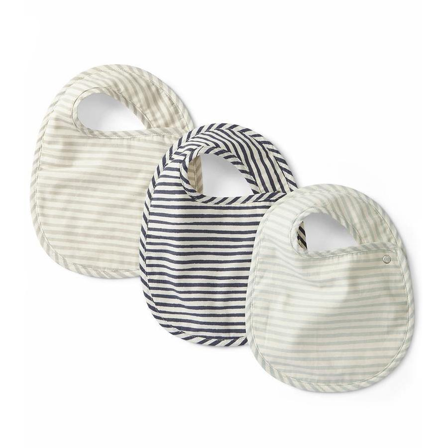 Bib Set of 3 | Stripes Sea