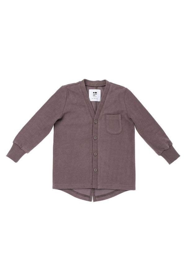 Kids' Terry Cardigan - Stone | OM432