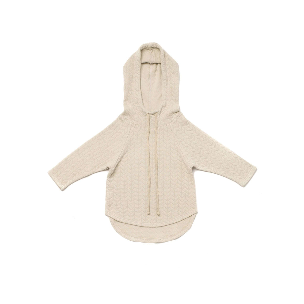OMAMIMINI:Quilted Terry Hoodie | Stone OM252
