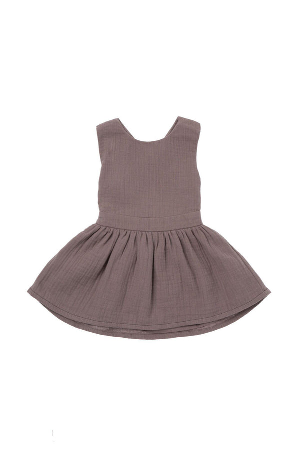 Baby Pinafore Dress - Stone | OM433