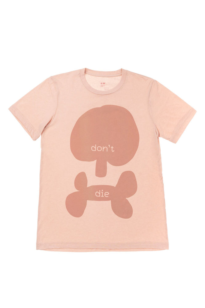 Don't Die T-shirt | Scull | Peach - OMAMImini
