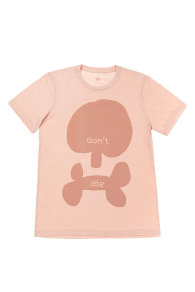 Don't Die T-shirt | Scull | Peach