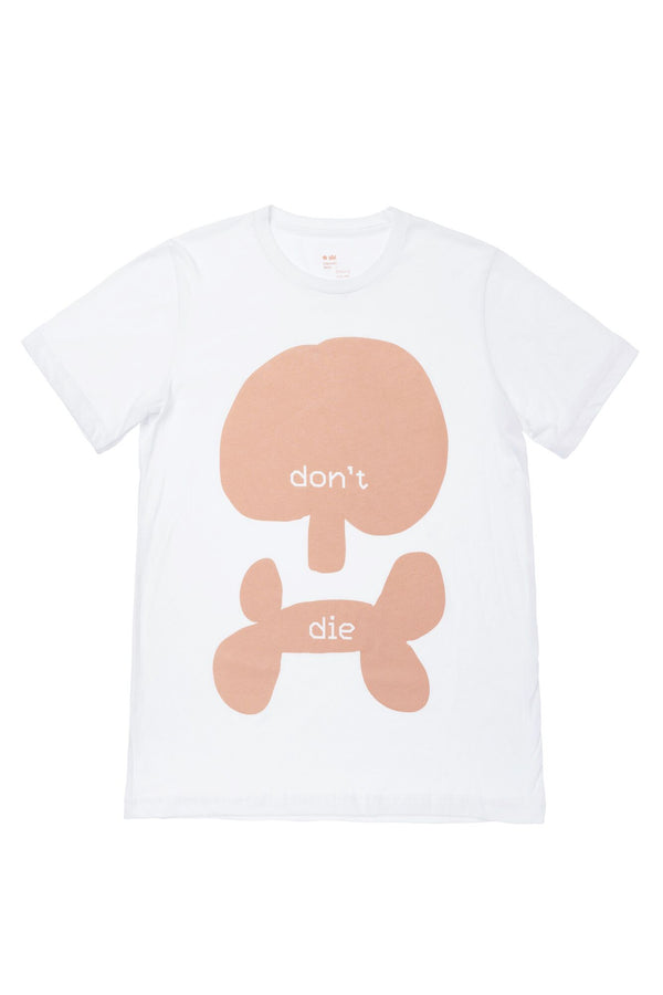 Don't Die T-shirt | Scull | White