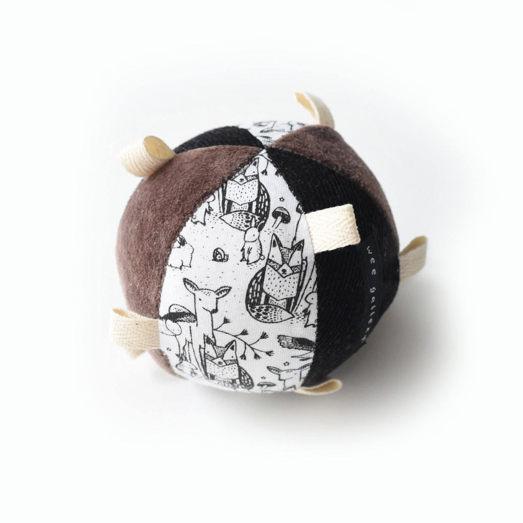 Taggy Ball with Rattle - Woodland - OMAMImini