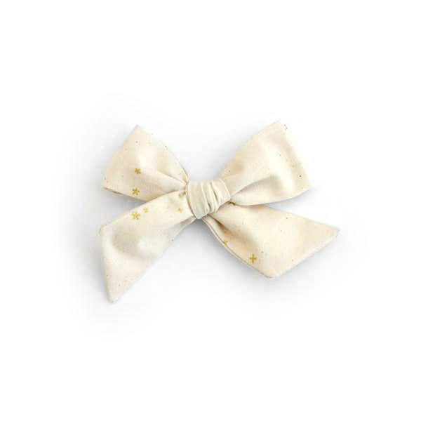 Twinkle Cream Bow Hair Clip