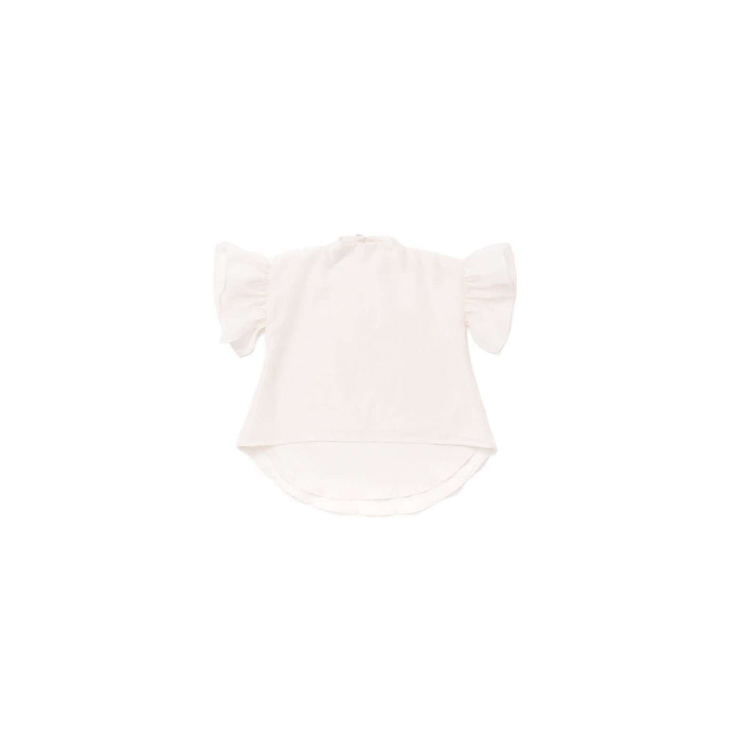 OMAMIMINI:Voile Top with Ruffle Sleeve | Off-White OM302