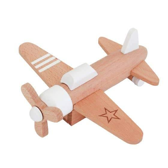 Wooden Pull-back Propeller Plane