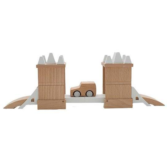 Wooden Tower Bridge Set