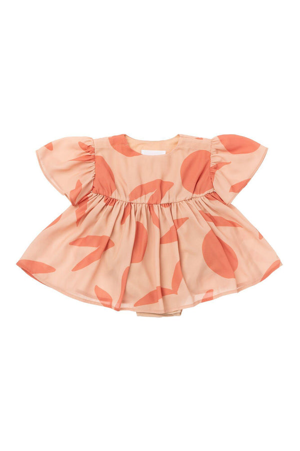 Baby Fit and Flare Dress - Peach | OM439