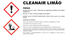 CLEANAIR LIMÃO - Desinfectante, germicida e desodorizante do ar
