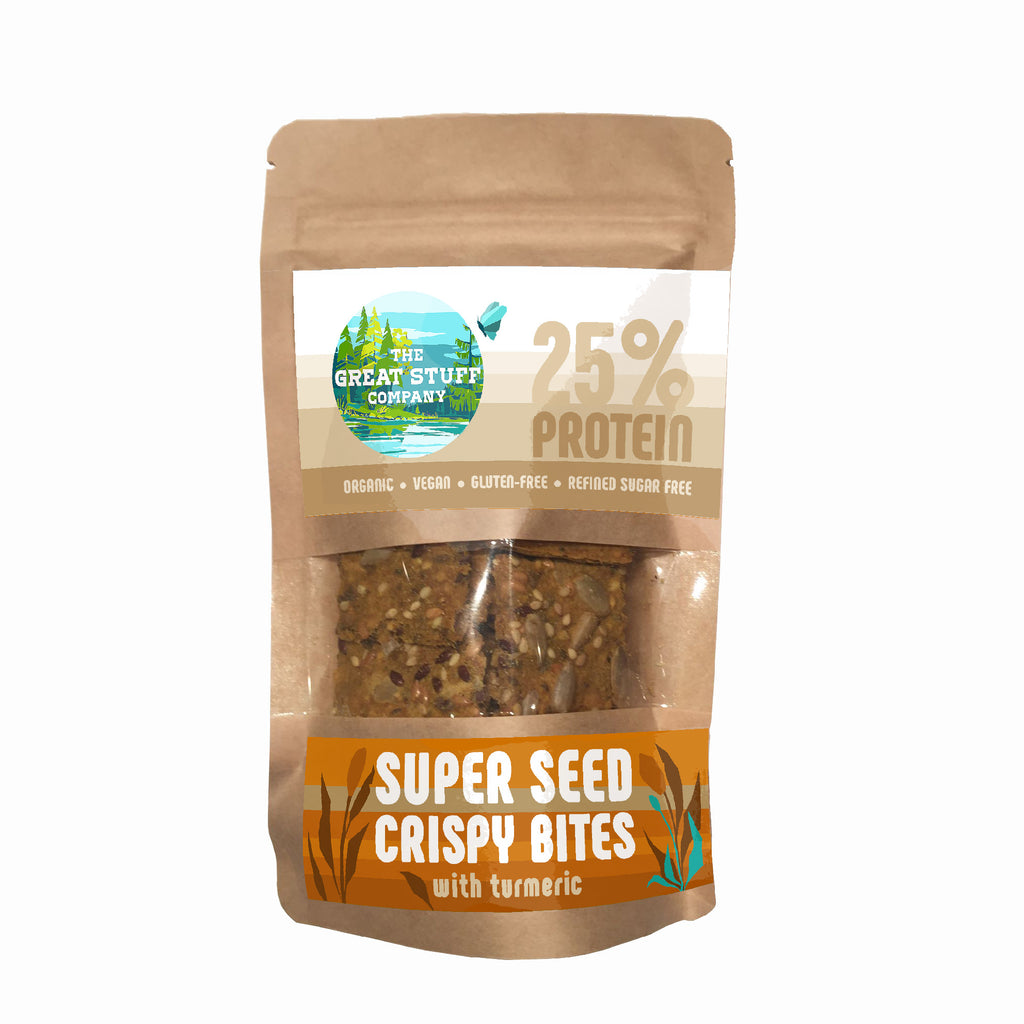 Super Seed Crispy Bites with Turmeric - 10 bags - free shipping