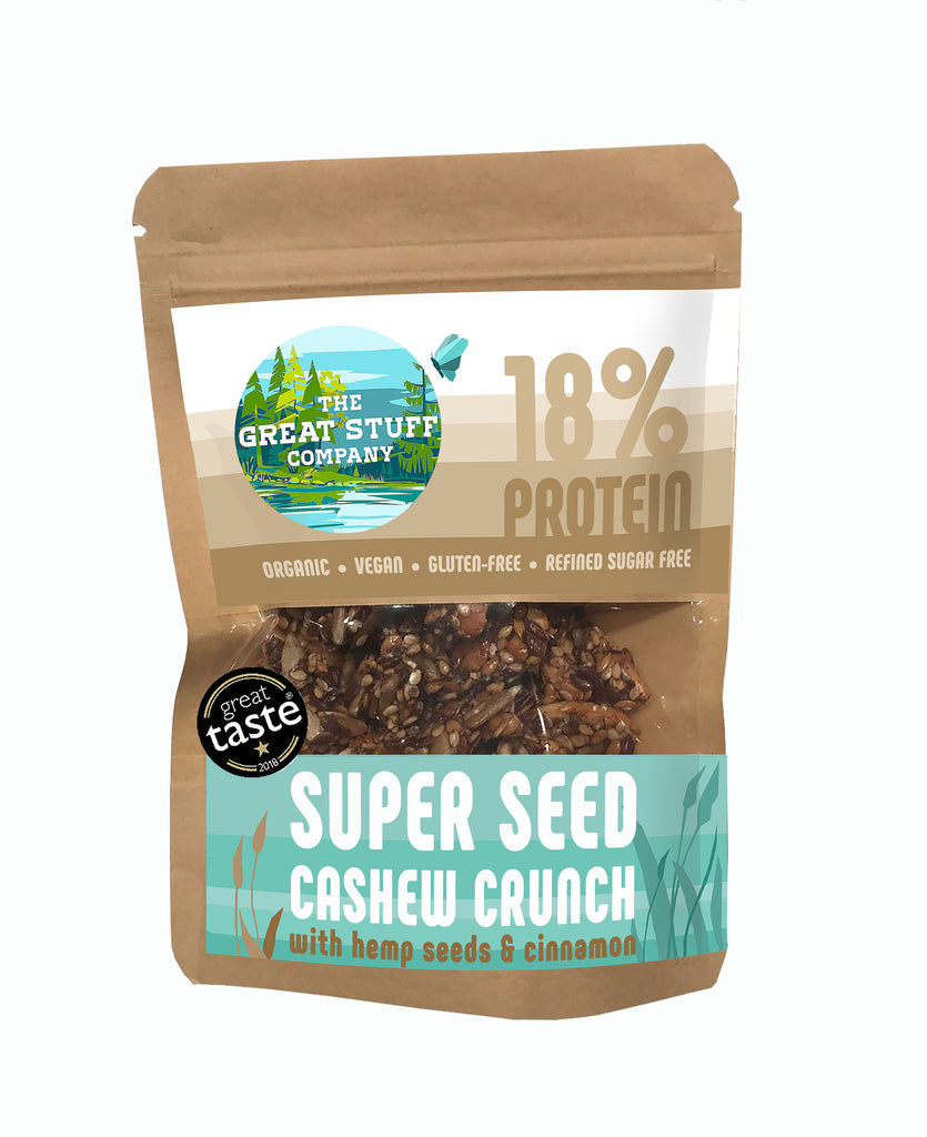 Super Seed Cashew Crunch with Hemp Seeds & Ceylon Cinnamon -10 bags - free shipping