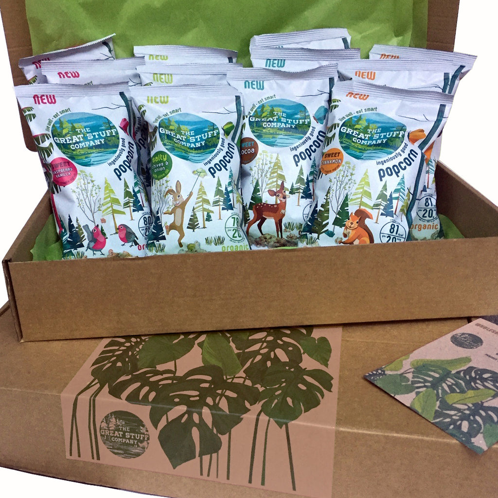 The Healthy Gift Box - Popcorn Edition (organic, vegan, refined sugar free) - free shipping