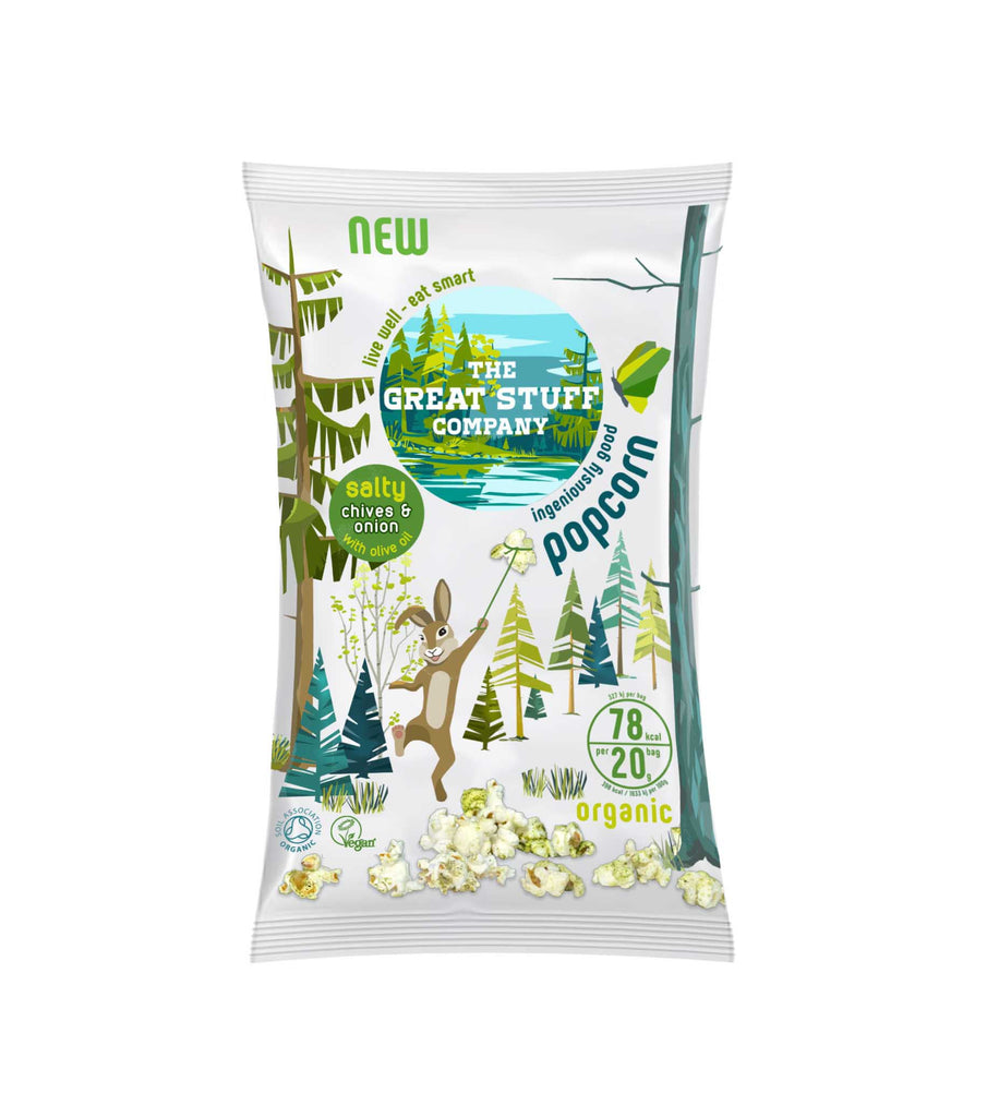 Salty Chives & Onion Popcorn (Organic) - free shipping