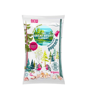 OFFER!!! Sweet Raspberry Vanilla Popcorn (Organic) - free shipping (best before date 27/07/2019)