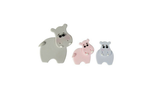 Hippo Mummy & Baby Cutters - set of 4