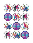 Sample: Edible Cupcake Toppers - 12 discs per A4 size Sheet