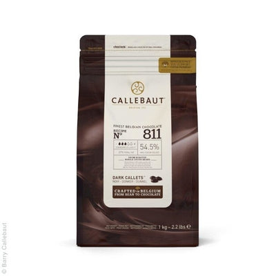 Callebaut Dark Chocolate 1kg - Callets No.811 NV 53%