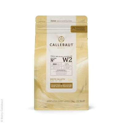 Callebaut White Chocolate 1kg - Callets W2 NV 28%