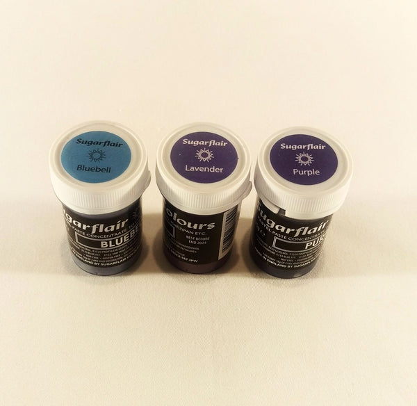 Sugarflair Paste - Pastel Purple Colour 25g