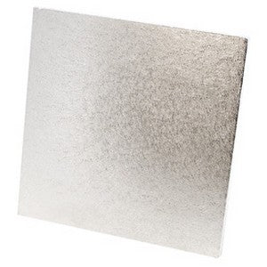Straw Board Square - Silver 10""