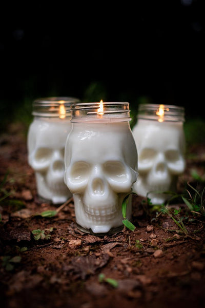 16 oz Halloween Skull Soy Candle