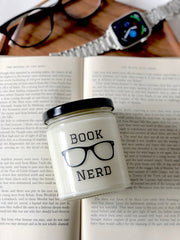 Book Nerd Soy Candle Gift