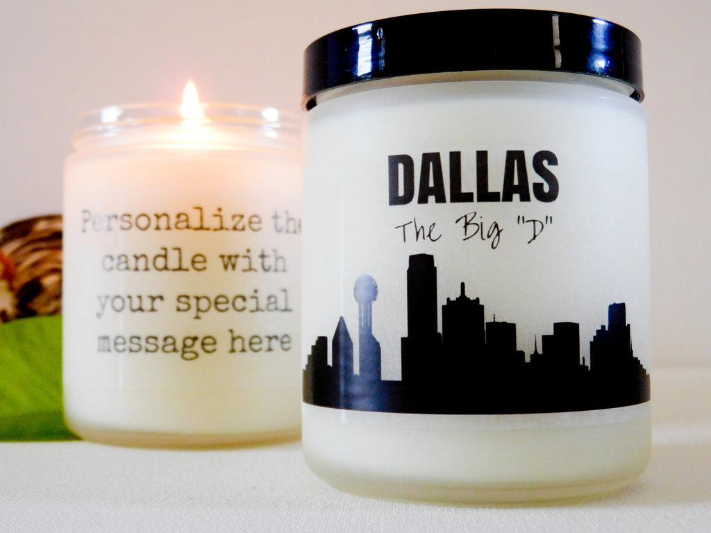 Dallas Candle Dallas Gift Ideas Big D Gift Texas Gift Ideas Texas Candle Gift DFW Gift DFW Candle Homesick Gift Moving Away Gift Texas Pride