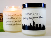 New York City Gift Personalized Candle NYC Candle New York Candle NYC Gift Ideas Homesick Gift College Gift NYC Souvenir New York Souvenirs
