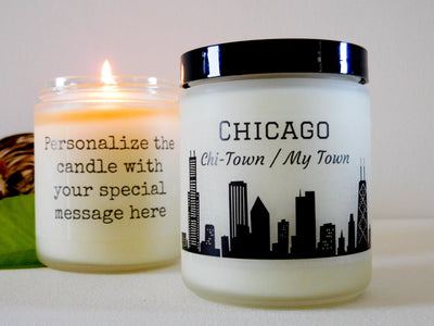 Chicago Gift Chicago Candle Homesick Gift for Student Candle Gift College Gift Illinois Gift Illinois Candle Moving Away Gift New Home Gift
