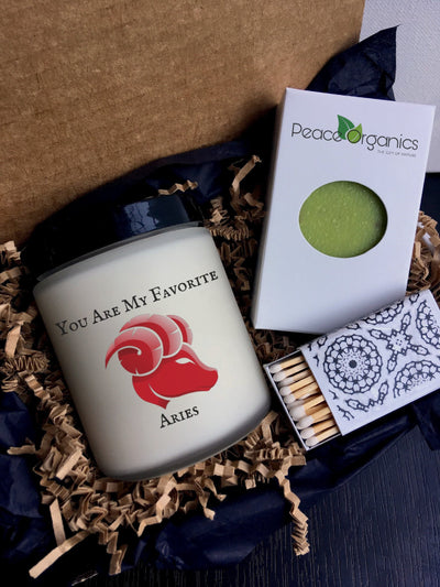 Aries Gift for Birthday Gift Aries Present Zodiac Gift for Aries Candle Gift Astrological Gift Horoscope Gift Zodiac Candle Gift Set for Her