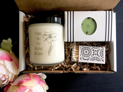 Thank You Gift Box Thank You Candle Gift Mentor Gift Thank You Gift For Teacher Thank You Gift Set Appreciation Gift Instructor Gift Tutor