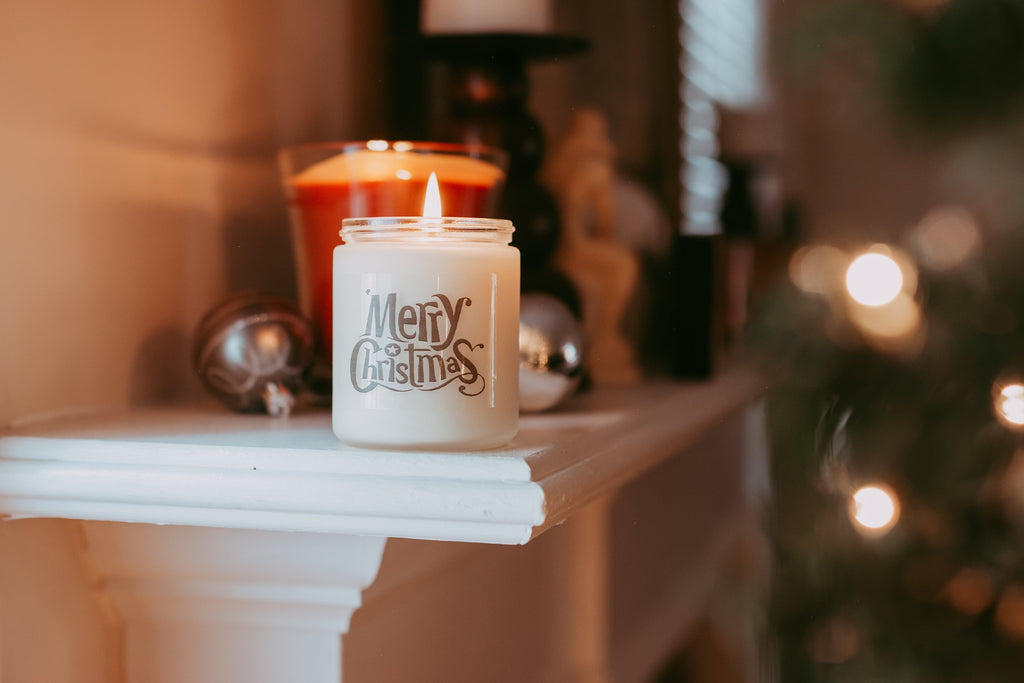Holiday Gift | Merry Christmas Candle | Xmas Gift | Santa Candle | Christmas Decor | Gift Under 25 | Gift for Mom | All Natural Soy Candle