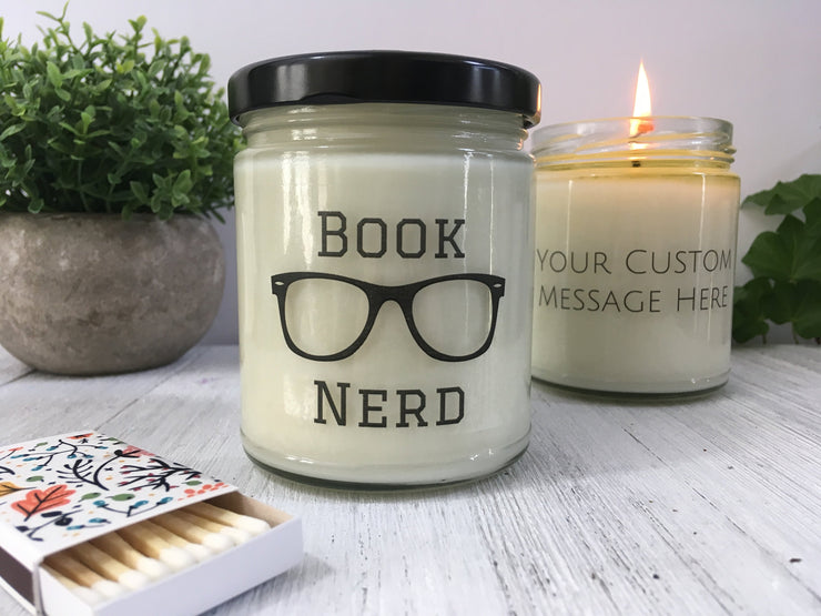 Book Nerd Personalized Candle - Book Lover Gift - Book Candle