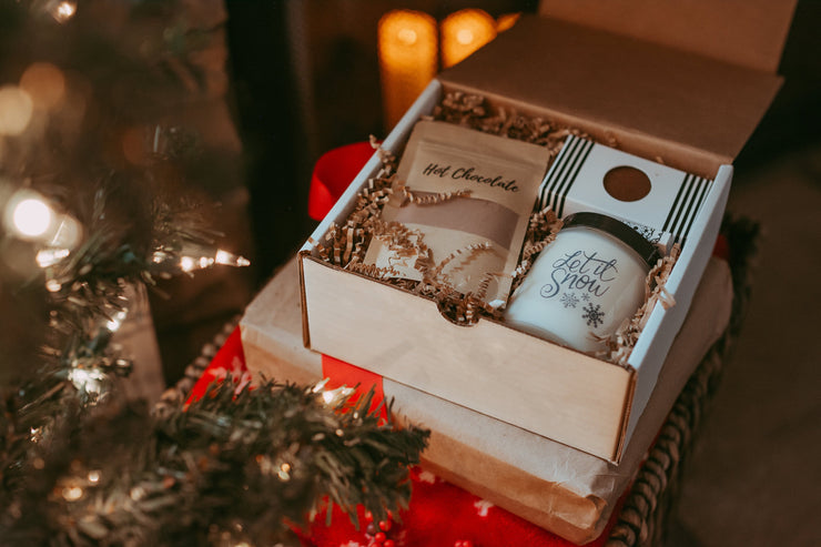 Unique Gifts | Holiday Hot Chocolate | Christmas Gift | Candle Gift Box