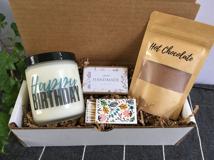 Birthday Gift Box | Candle Gift | Birthday Care Package | Birthday Present | Gift for Mom | Unique Gift | Birthday Gift Box