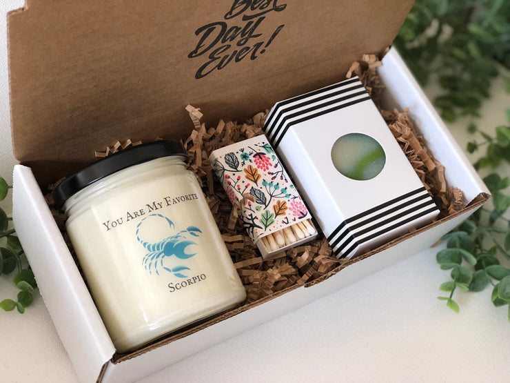 Gift for Scorpio Candle Zodiac Gift for Scorpio Birthday Present Astrological Gift Horoscope Candle Star Sign Gift Scorpio Gift Box Trending