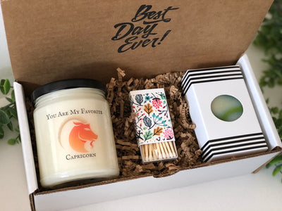 You Are My Favorite Capricorn 9oz Candle and Cold Process Soap